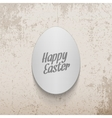 Easter realistic paper Egg greeting Banner vector image vector image