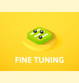 fine tuning isometric icon isolated on color vector image