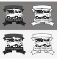 Food truck logo set vector image vector image