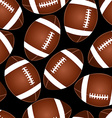 Football on black seamless pattern vector image vector image