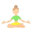 Girl in yoga pose icon cartoon style vector image