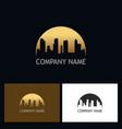 gold cityscape urban logo vector image