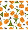halloween seamless pattern flat style vector image vector image