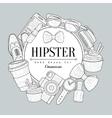 Hipster Items Vintage Sketch vector image vector image