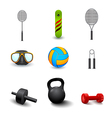 icon sports equipment vector image