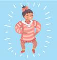 infant child bagirl toddler vector image