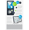 infographics with buttons and menus vector image vector image