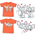 kid shirt with cute mouses in love printed vector image