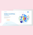 landing page template shopping online concept vector image vector image