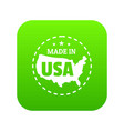 made in usa country icon green vector image