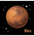 Mars planet 3d High quality vector image vector image