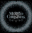 merry christmas glitter background vector image vector image