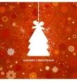 Merry Christmas Tree Card vector image
