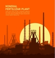 Mineral fertilizers plant at sunset vector image vector image