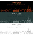 new orleans event banner hand drawn skyline vector image vector image