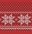 norway festive red sweater texture fair isle vector image