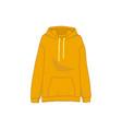 orange sweatshirt hooded fashion style item vector image vector image