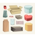Packing Boxes collection vector image