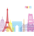Paris skyline pop vector image vector image