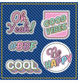 patches sticker cute vector image