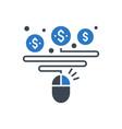 pay per click glyph icon vector image vector image