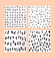 pencil sketch pattern background set black and vector image
