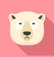 polar bear icon flat style vector image vector image