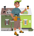 Renovate a house vector image vector image