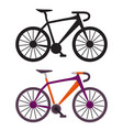 retro city bike icons vector image