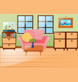 room with sofa and cabinets vector image