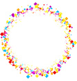 Round background with color rhombs vector image vector image