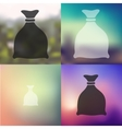 Sack icon on blurred background vector image
