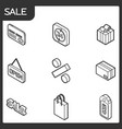 sale outline isometric icons vector image vector image