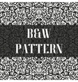 Seamless flower pattern in black and white style vector image vector image