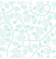 seamless pattern with leaves and curves vector image vector image