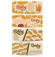 set bakery flyers design element for poster vector image