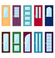 set of color door icons vector image vector image