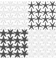 set of seamless patterns with starfish vector image vector image