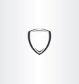 stylized black shield icon vector image vector image
