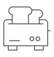 toaster thin line icon appliance and electrical vector image vector image
