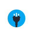 uk electric plug icon flat style vector image