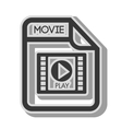 Video format type media movie vector image