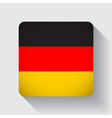 web button with flag germany vector image