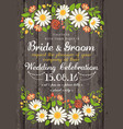 wedding invitation card with beuty floral vector image vector image