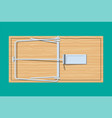 wooden mouse trap vector image vector image