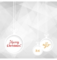 Xmas balls on triangle background vector image vector image