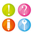 colorful set icon different symbols vector image