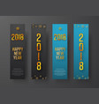 set of blue and black vertical web banners happy vector image