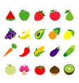fruit vegetable food healthy vector image