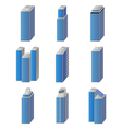 icons of city buildings set vector image